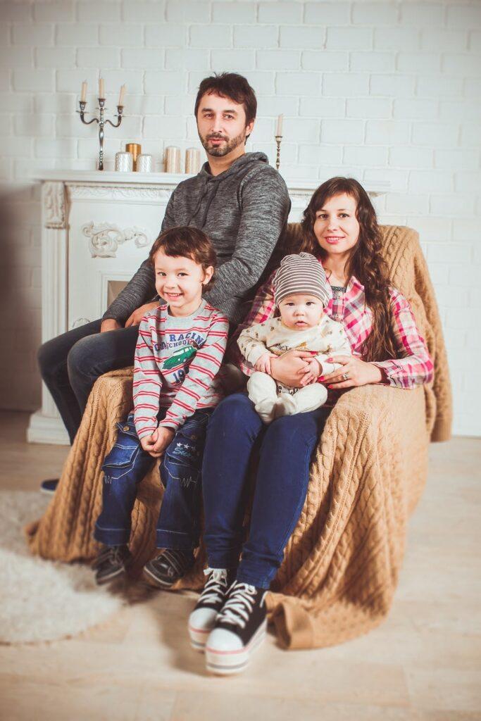 Happy family, couples