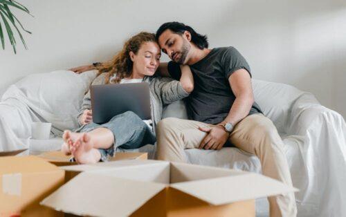 Couples, family, happy spouse