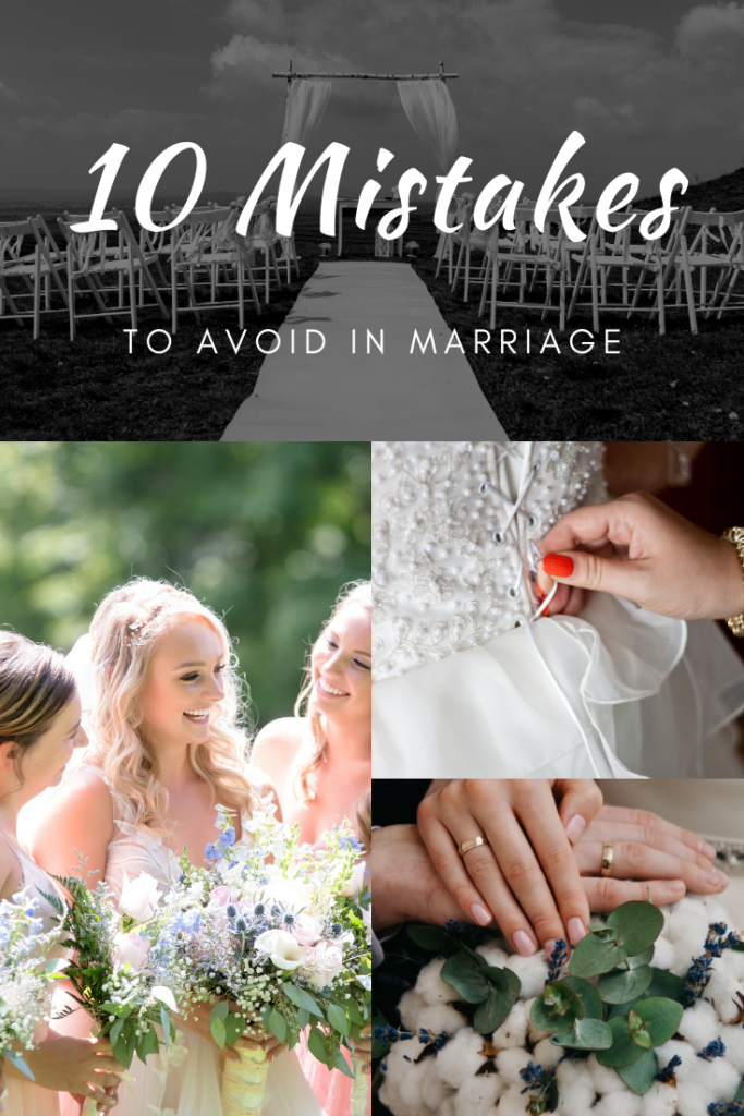 Deadly marriage mistakes