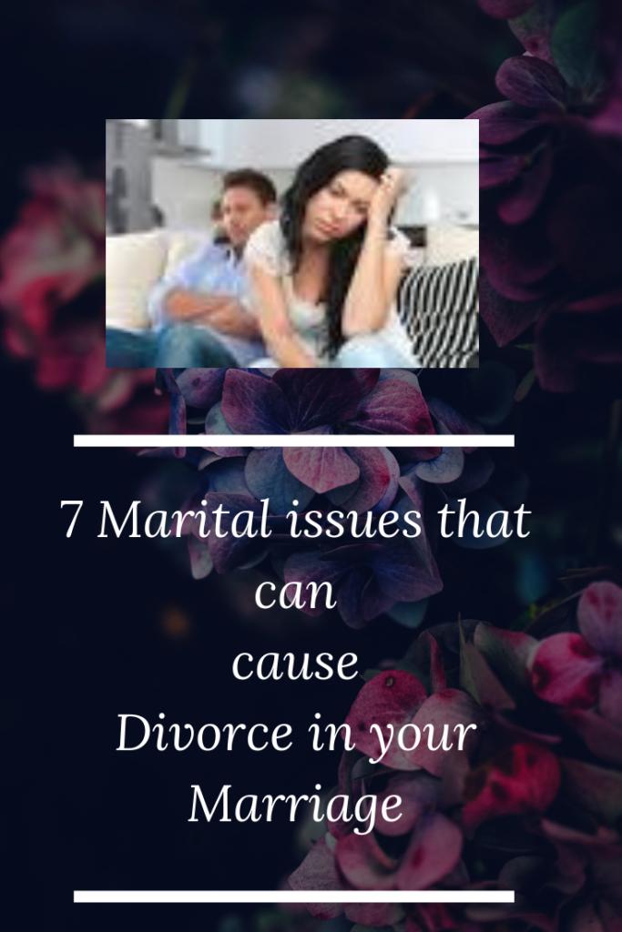 marital issues, divorce