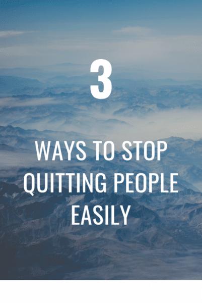 Quit people, quit relationship