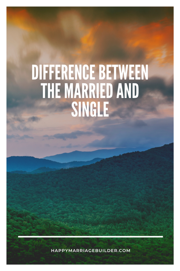 Difference between being single and married
